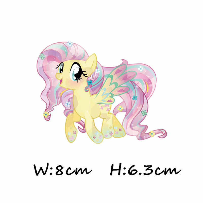 1pcs Eenhoorn My Little Paard Regenboog Baoli Sticker Iron Op Kleding T-shirt DIY Cartoon Patch Thermische Transfer Kid Apparel decor
