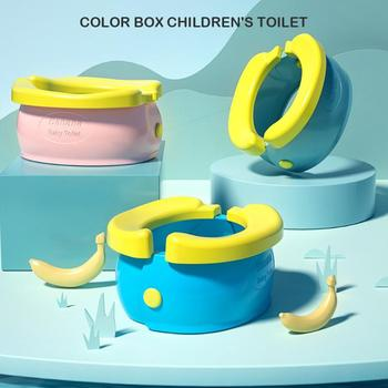Portable Baby Toilet Training Seat Child Infant Urinal Banana Folding Travel Potty Urinal Chamber Pots With Poop Garbag Bag