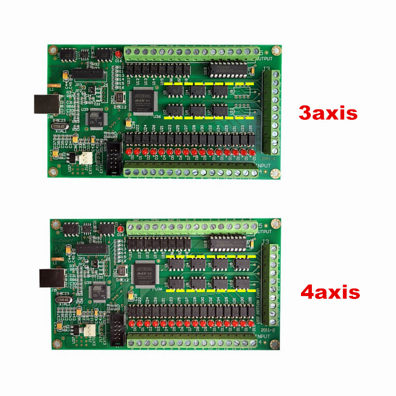 3 Axis 4 Axis CNC Motion Controller USB Card Mach3 200KHz Breakout Board Interface For Cnc Milling Machine