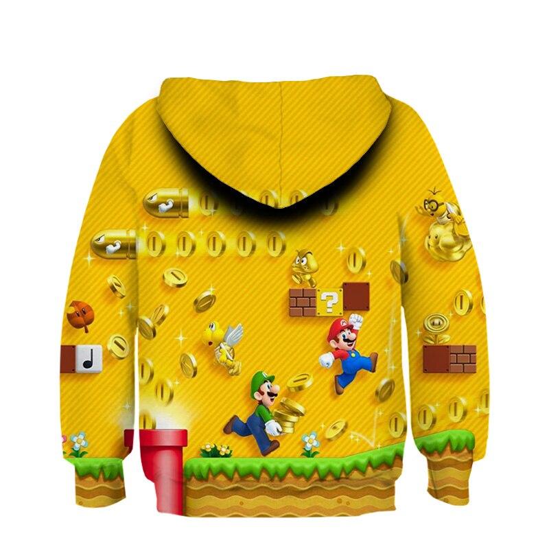 Kinder Pullover Jungen Mantel M/ädchen Oberbekleidung Jacke Spiel Super Mario Bros 3D gedruckte Hoodie Sweatshirt East-hai-buy 3 bis 14 Jahre Kinder Hoodies