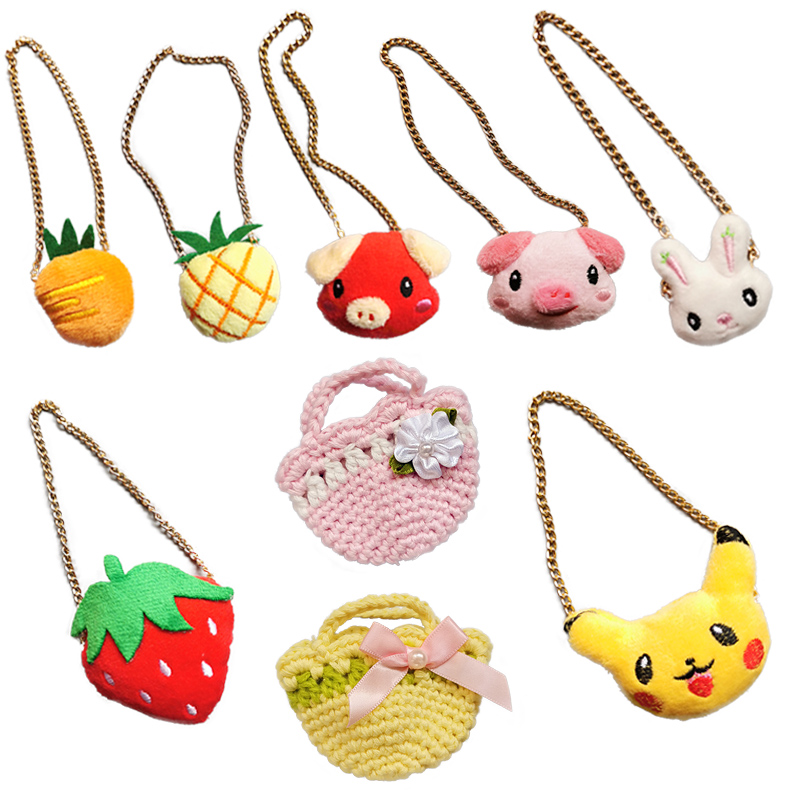 1PCS 1/6 Doll Bags Miniature Crossbody Bag Handbag Accessories For 25cm Dolls Mellchan Bjd Doll Accessories