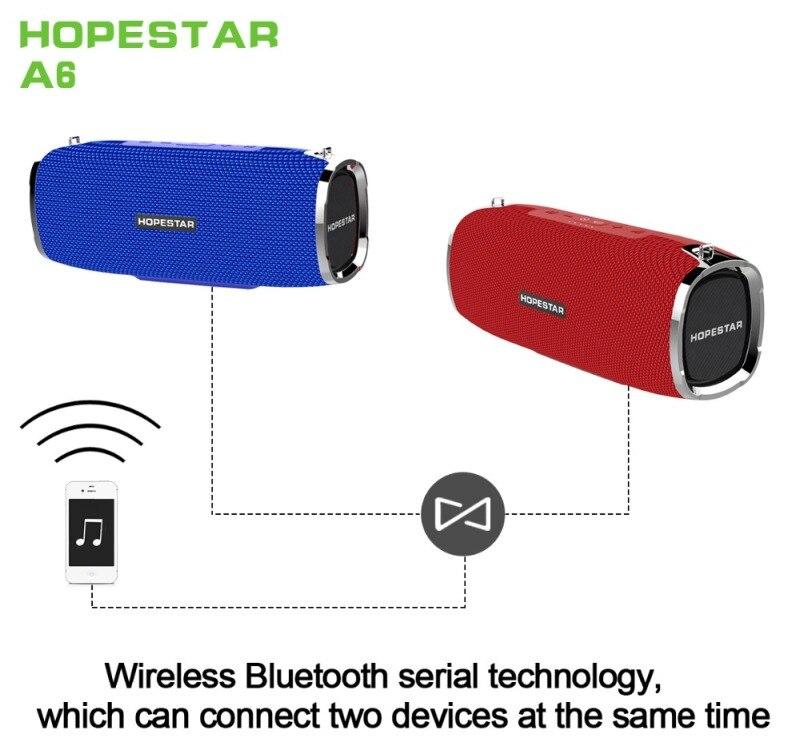 A6 Super Bass 4D Stereo Bluetooth Speakers Waterproof Portable Column wireless speaker Music Center Subwoofer Sound bar Boom Box 2