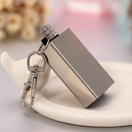 Creative Portable Square Stainless Steel Kerosene Lighter Cigarettes Match Outdoor Survive Camping Hiking Fire Starter Tool