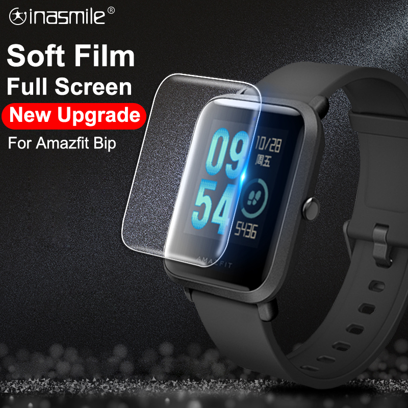 Soft Full Screen Protector Film For For Huami Amazfit Bip Tempered Soft Film For Amazfit Bip Protecttive Cover Not Glass