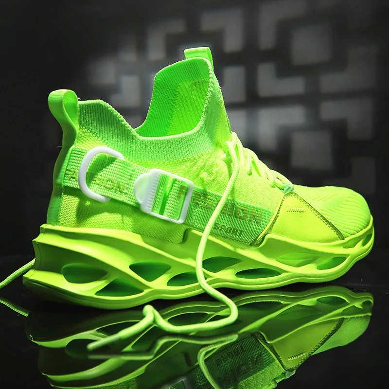 Trắng Chun Giày Thoáng Khí Thời Trang Size Lớn Nam Huấn Luyện Viên Vàng Đi Bộ Nam Giày Thể Thao Tenis Masculino Mùa Thu 2020