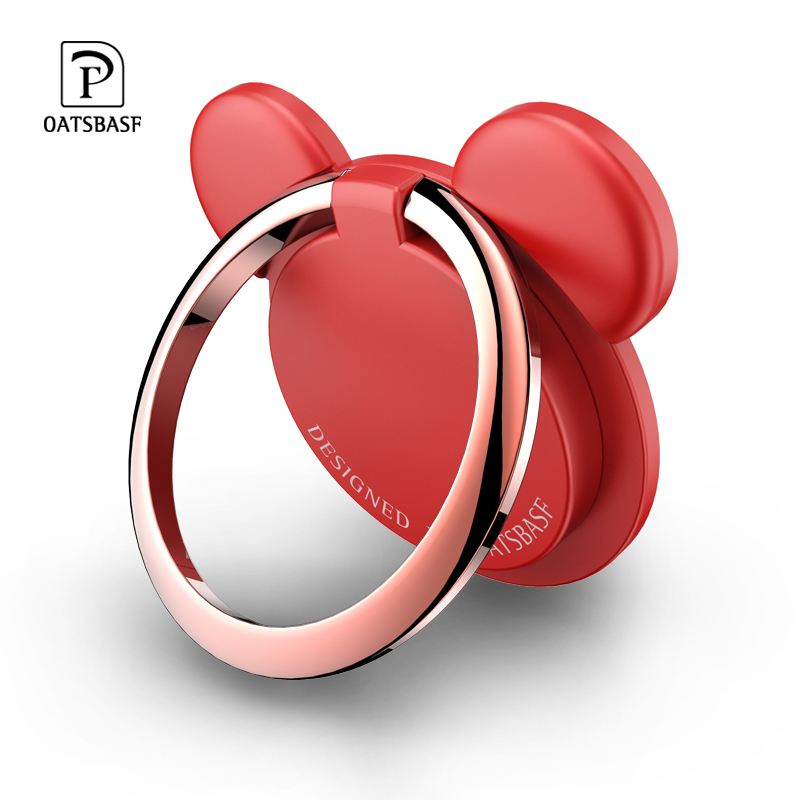 Mobile Phone Finger Ring Holder 360 Degree Rotating Phone Stand Suitable For Iphone Xiaomi Huawei Phone Tablet Small Bear Stand