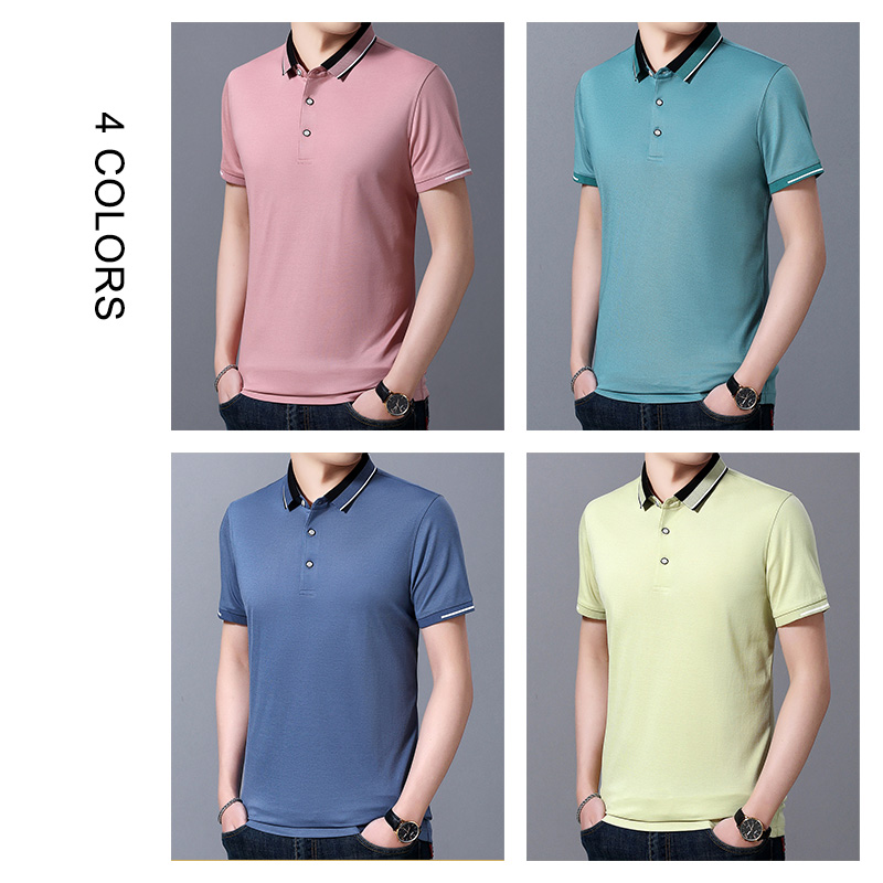COODRONY Business Casual T-Shirt Men Fashion Small Collar Tee Shirt Homme Spring Summer Short Sleeve T Shirt Men Clothing C5057S