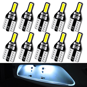 10x led t10 194 168 w5w lâmpada da placa de licença do carro luz para toyota corolla avensis yaris rav4 auris hilux prius camry celica C-HR i