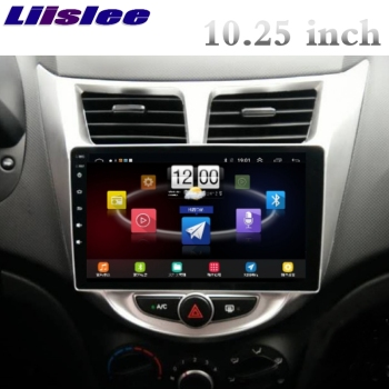 For Hyundai Accent RB i25 WIT Blue 2010~2018 LiisLee Car Multimedia GPS Audio Radio Stereo CarPlay Adapter Navigation NAV image