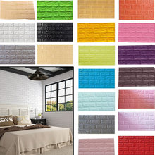 10pcs 60x30cm 3D Brick Wall Stickers Wall Covering Wallpaper DIY Self Foam Waterproof Decor For TV Background Kids Living Room(China)
