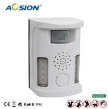 شحن مجاني Aosion حديقة متعددة الوظائف بالموجات فوق الصوتية الكلب القط طارد طارد الحيوانات رادع مع محول AN B010 1