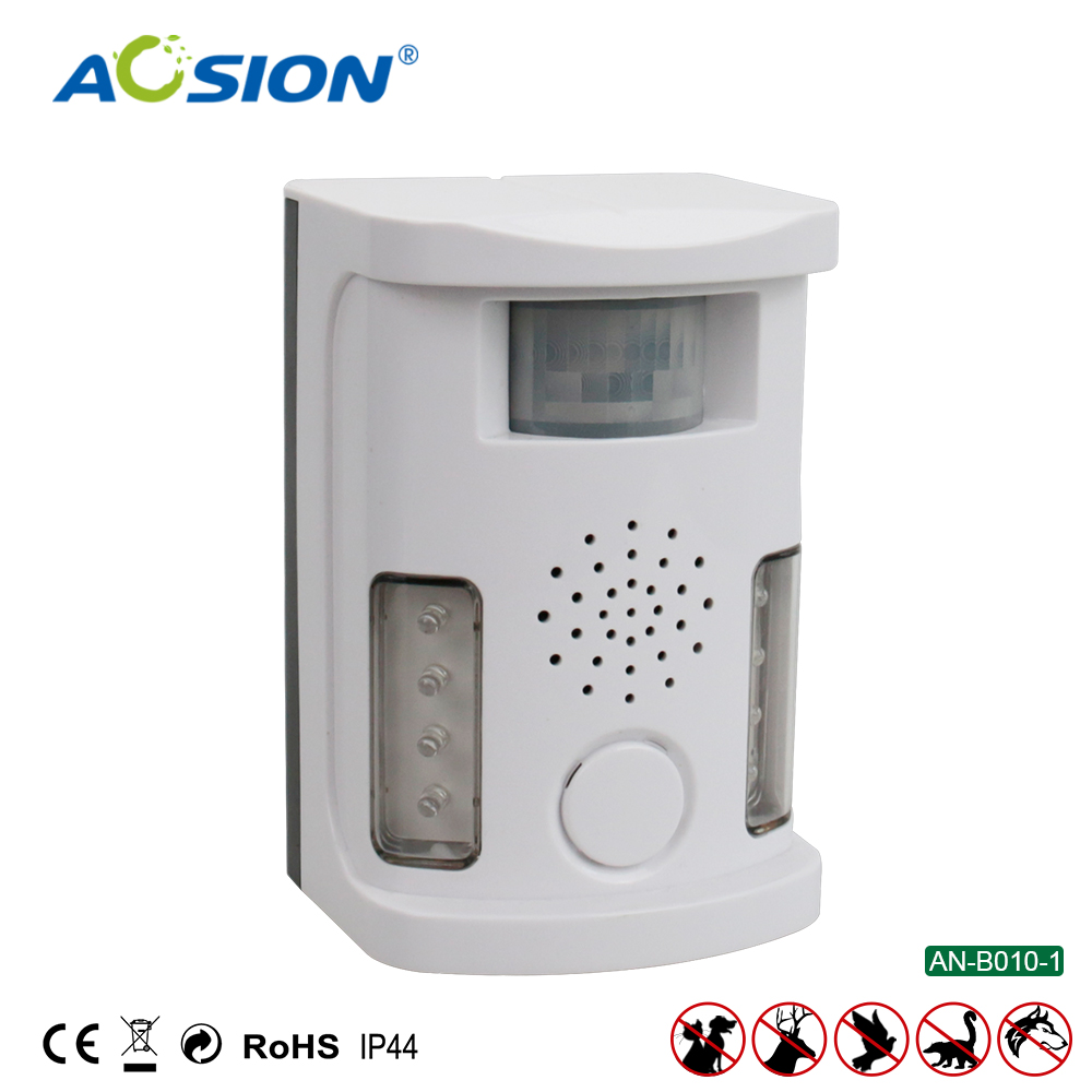 Free Shipping Aosion Garden  Multifunctional Ultrasonic Dog Cat Repeller Repellent Animals Deterrent  With Adaptor AN-B010-1