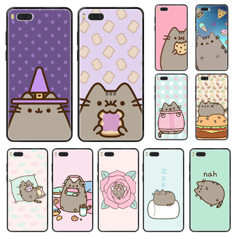 Cute Cartoon Pushee Phone case For Xiaomi Mi 6 8 9 A1 2 3 Max3 Mix2 Mix2S X T Lite Pro black soft prime fashion cell cover image