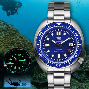 Image 1 - Steel Dive Abalone Dive Watch 200M Waterproof automatic watch men Sapphire Crystal Stainless Steel NH35 Automatic Mechanical Men