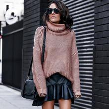 Женские свитера с высоким воротником повседневные толстые джемперы