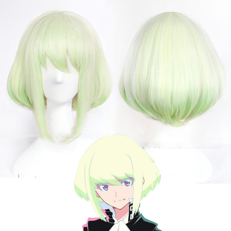 PROMARE Mad Burnish Lio Fotia 35cm Short Straight Heat Resistant Synthetic Hair Anime Cosplay Wig + Wig Cap