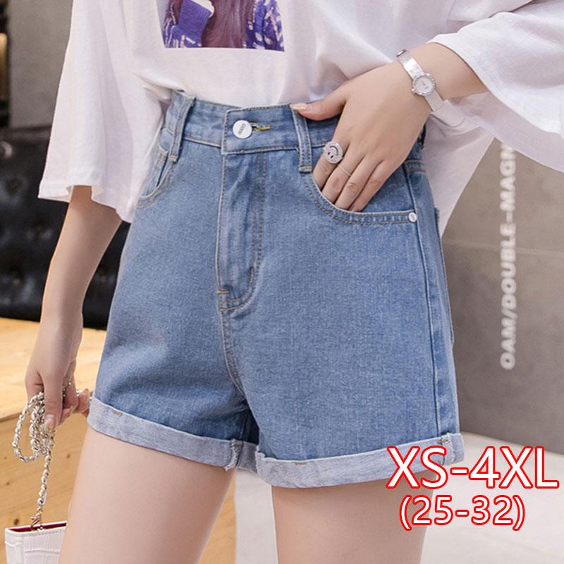 Women Loose Casual Denim Short New Korean Fashion High Waist Denim Shorts  Female High Waist Jean Short Woman Summer Plus Size