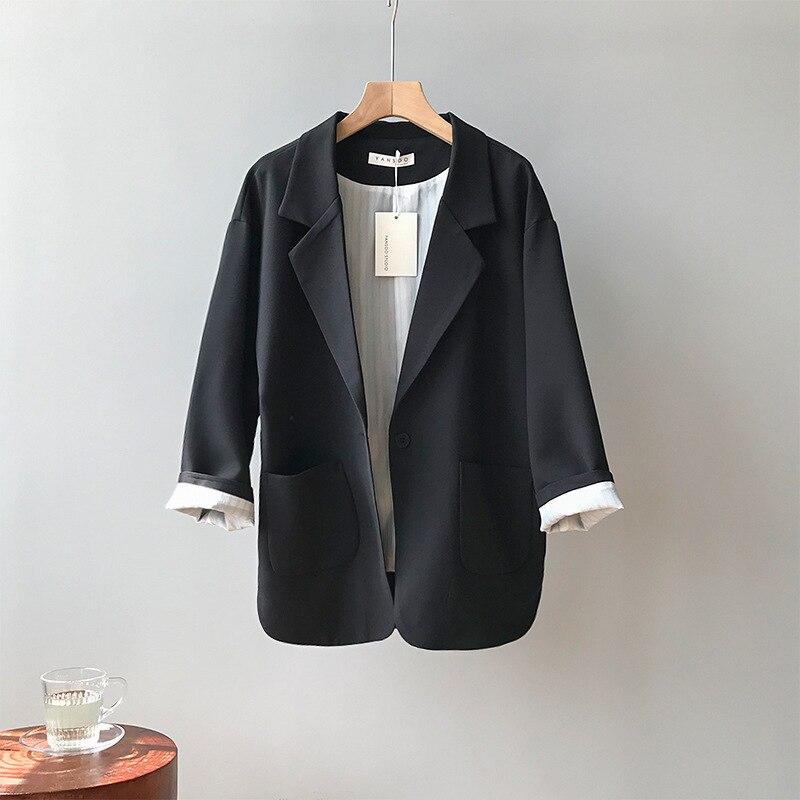 Women Blazer Black Suit Female Bleizer Mujer 2019 Fashion Korean Casual Loose Suit Long Sleeve Women Clothes Solid Color Coat