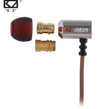 KZ ED9 süper kase Tuning nozullar kulak içi kulaklık monitörler HiFi mikrofonlu tekli kulaklıklar şeffaf ses kulaklık dinamik kulaklıklar