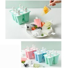 Homemade Food Grade Ice Cream Mold Popsicle Molds DIY Homemade Cartoon Ice Cream Popsicle Ice Pop Maker Mould