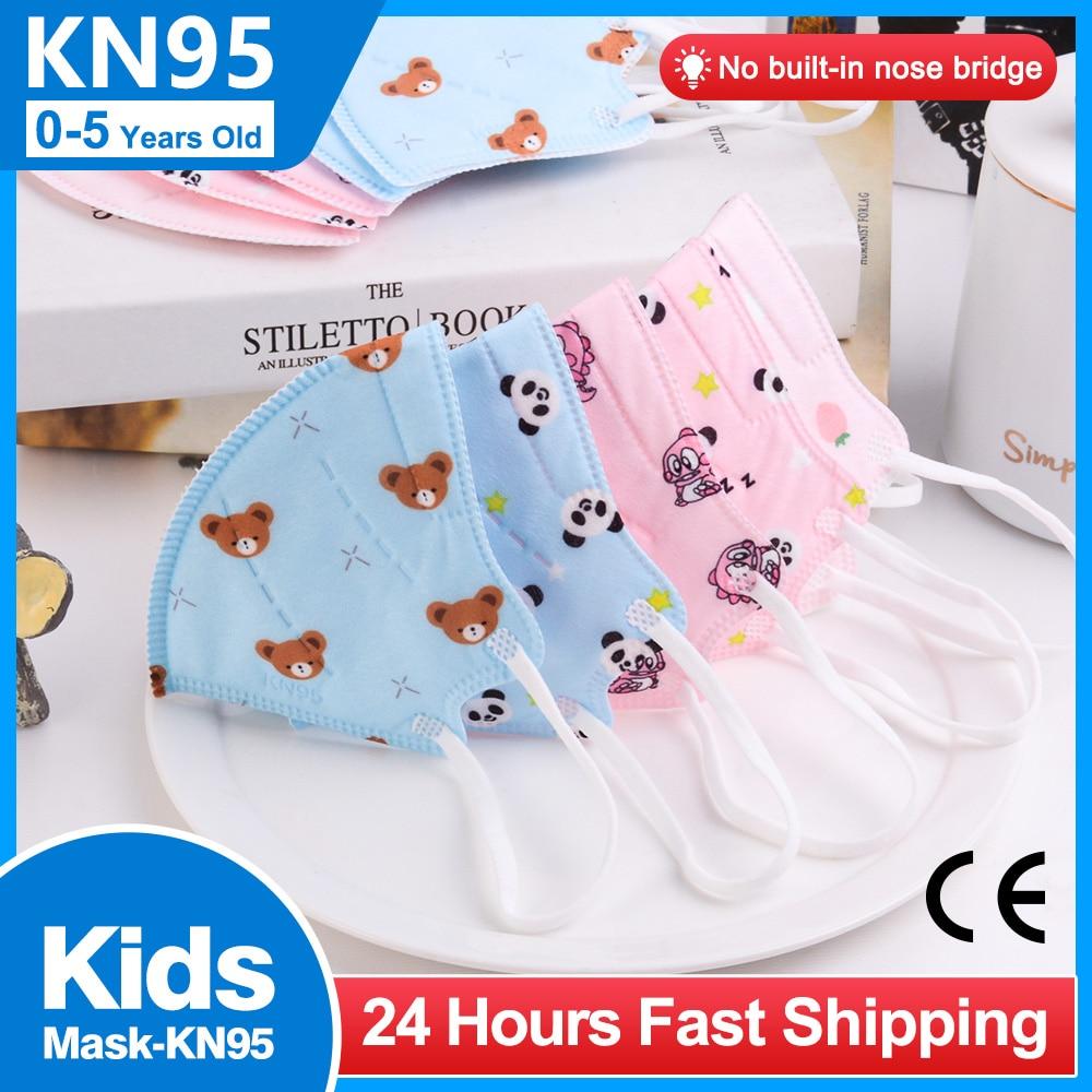Мультяшная ffp2mask для детей 0-5 детей, многоразовый респиратор KN95, детская маска с принтом, детская маска fpp2