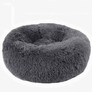 Image 1 - Panier دردشة مستديرة قابل للغسل سرير كلب لينة بيت قطة الحيوانات الأليفة سرير للكلاب منزل القط Haustiere الدردشة Panier طويل أفخم سرير كلب كلب كلب