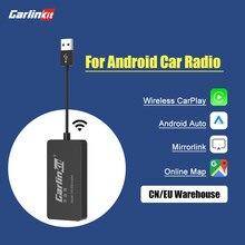 Loadkey y Carlinkit inalámbrico Apple CarPlay Dongle para Android navegación coche servicios Mini USB Carplay Stick con Android Auto