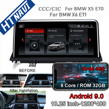 PX6 Android 9.0 Car Multimedia Player Bluetooth Navigation Car Radio 2 Din Stereo DVD For BMW X5 E70 X6 E71 CCC CIC System