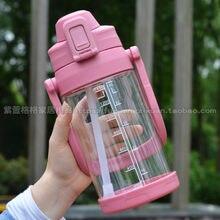 Grande Bottiglia di Acqua di Plastica 2200ml di Paglia Delle Donne Esterna di Sicurezza Acqua Brocca Portatile Maniglia Bottiglia Acqua Estate Bere Tazza AB50WB