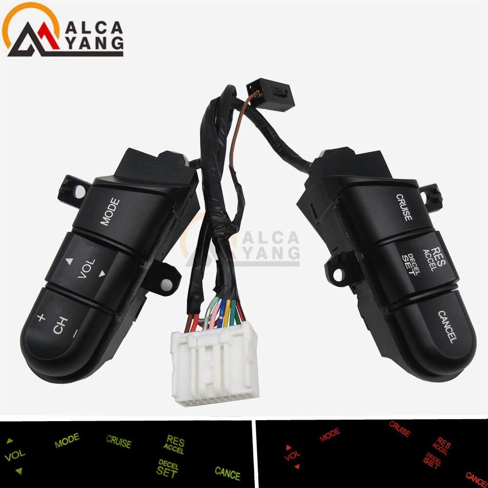 Interruptor de controle de áudio do volante de malcayang/botão para honda civic 06-11