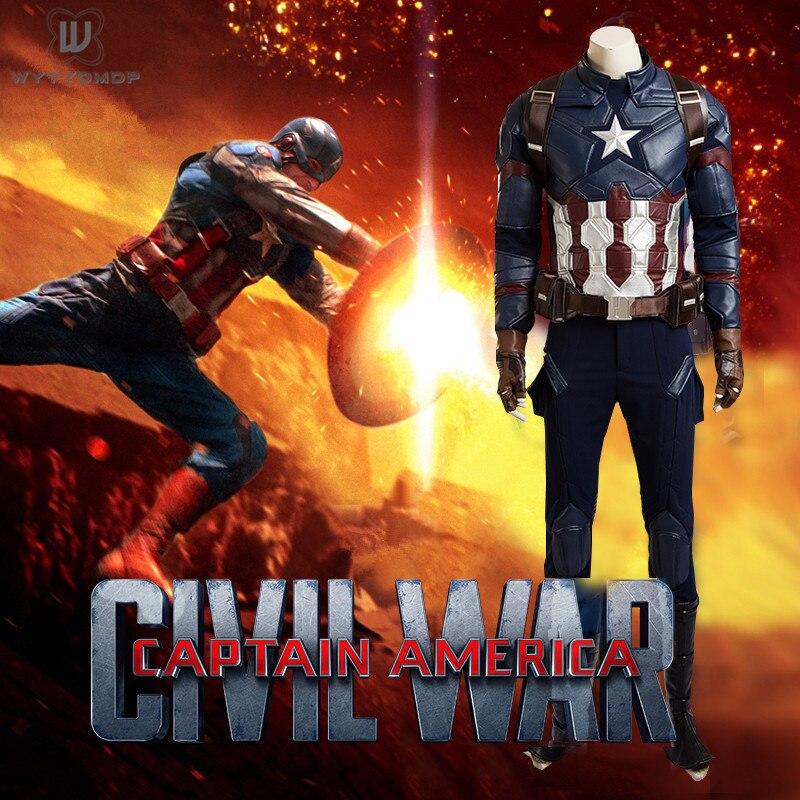 Avengers Endgame Captain America Cosplay Costume Full Set Completo Vestito Capitan America Steve Rogers Halloween