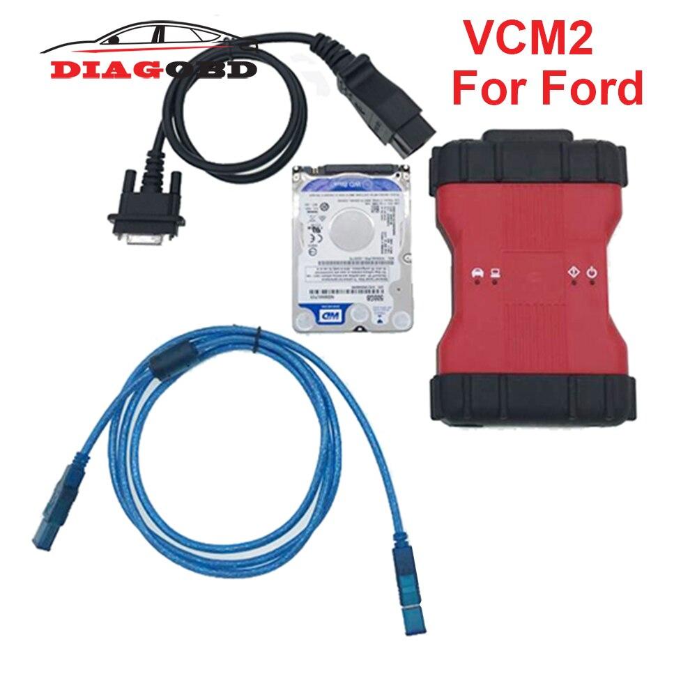 VCM2 dla Ford VCM2 VCM 2 skaner obdii narzędzie najlepsze VCMII wsparcie pojazdów IDS Vcm 2 pełny chip OBD2 Obd 2 skaner diagnostyczny samochodu
