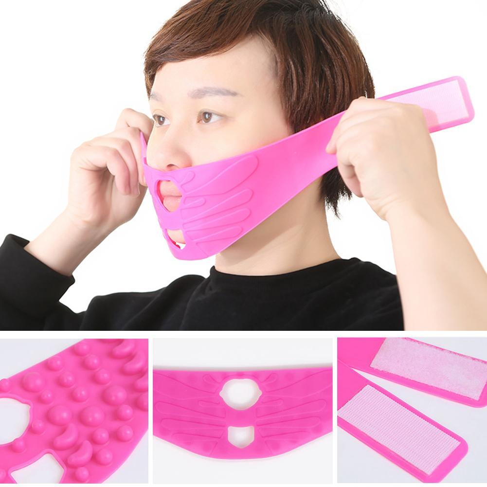 Silicone Face V-line Lift Firming Slimming  Mask Bandage Beauty Tool  Reduce Nasolabial Folds  Face Lift Firming Slimming