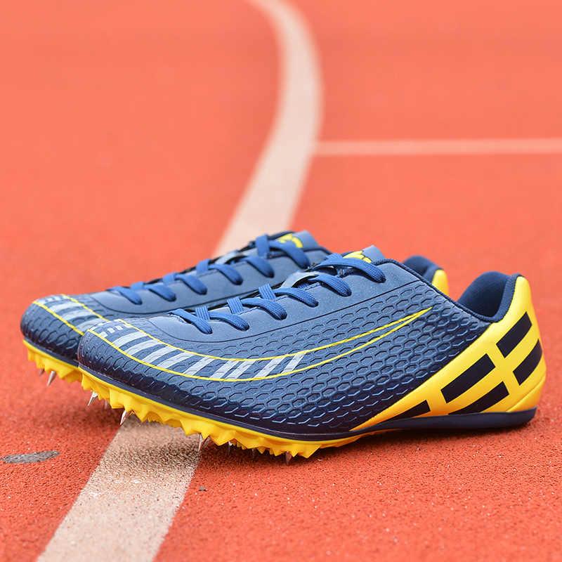 Chạy Thể Thao Gai Giày Nam Nữ Mũi Nhọn Giày Chạy Bộ Xanh Dương Cam Giày Thể Thao Gai Chuyên Nghiệp Sneakers Cho Xe Đua