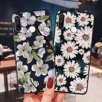 3D Emboss Case For Huawei Honor X10 9A 9S 8X 9X 10i 20 10 9 P40 P30 P20 Lite Pro Y6 Y7 Y9 P Smart 2020 2019 Flower Silicon Cover