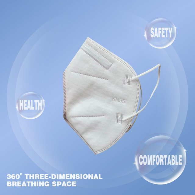 1pc KN95 Anti Flu Mouth Mask 95% Filtration Disposable Outdoor Protective Face Mask Respirator 5