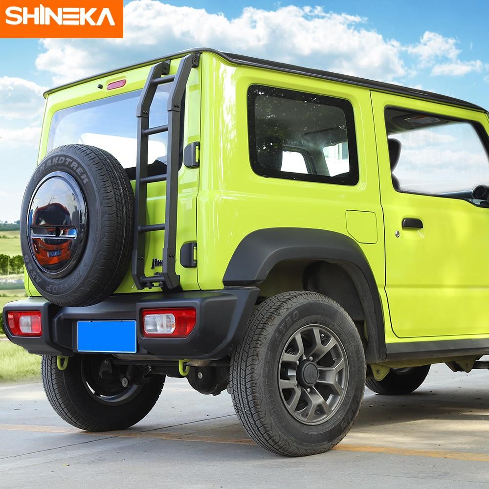 Image 5 - SHINEKA Protective Frames For Suzuki Jimny JB74 2019+ Car Exterior Rear Door Tailgate Ladder Accessories For Suzuki Jimny 2019+Protective Frames   -