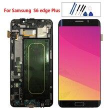 """5.7 """"Amoled do Samsung Galaxy S6 krawędzi Plus G928 G928F wyświetlacz LCD montaż digitizera ekranu dotykowego wymiana 100% testowane"""