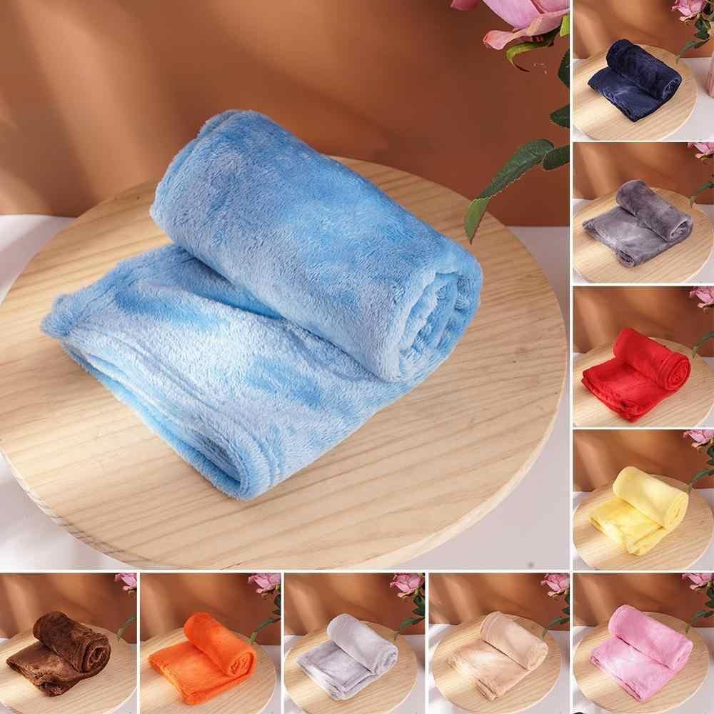 솔리드 컬러 겨울 퍼지 플란넬 담요 푹신한 따뜻한 블랙 침대보 양털 침대 소프트 커버 블루 담요 소파 산호 플러시