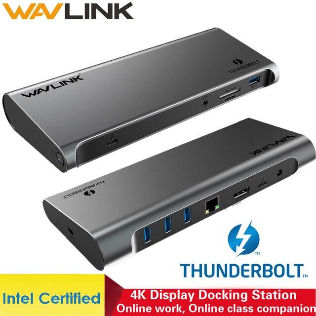 Thunderbolt 3 4K Display Docking Station USB C 4K DisplayPort Power Delivery Gigabit Ethernet for MacBook Pro [Intel Certified ]