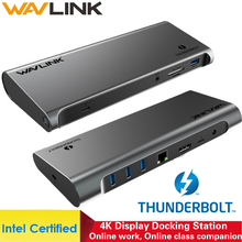 Thunderbolt 3 4K תצוגת עגינה תחנת USB C 4K DisplayPort כוח משלוח Gigabit Ethernet עבור MacBook Pro [אינטל מוסמך]