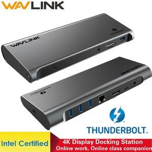 Thunderbolt 3 4k display docking station usb c 4k displayport entrega de energia gigabit ethernet para macbook pro [intel certificado]