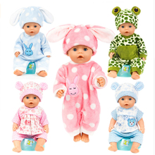 Baby New born doll clothes 15 color 18 inches 43cm Girl boy rabbit bear elephant ox chicken clothe for doll accessories gift 003