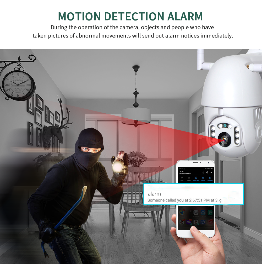 H553066015d5449c79e4310eb5beac603t INQMEGA 4X Digital Zoom H.265X 1080p PTZ IP Camera Outdoor Speed Dome CCTV Security Cameras WIFI Exterior IR Home Surveilance