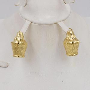 Image 5 - Nieuwe Ontwerp Hoge Kwaliteit Ltaly 750 Goud Kleur Sieraden Voor Vrouwen Afrikaanse Kralen Jewlery Mode Ketting Set Oorbel Sieraden