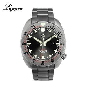 Image 1 - Lugyou סן מרטין Diver גברים שעון מכאני נירוסטה חול מוכה ספיר 20ATM מים עמיד מתכת צמיד לום