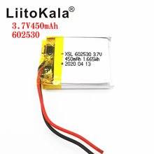 XSL – batterie Lithium-Ion polymère 3.7V 602530, 450mAh, 3.7v, pour montre connectée MP4, MP5, GPS, PSP, enregistreur de conduite