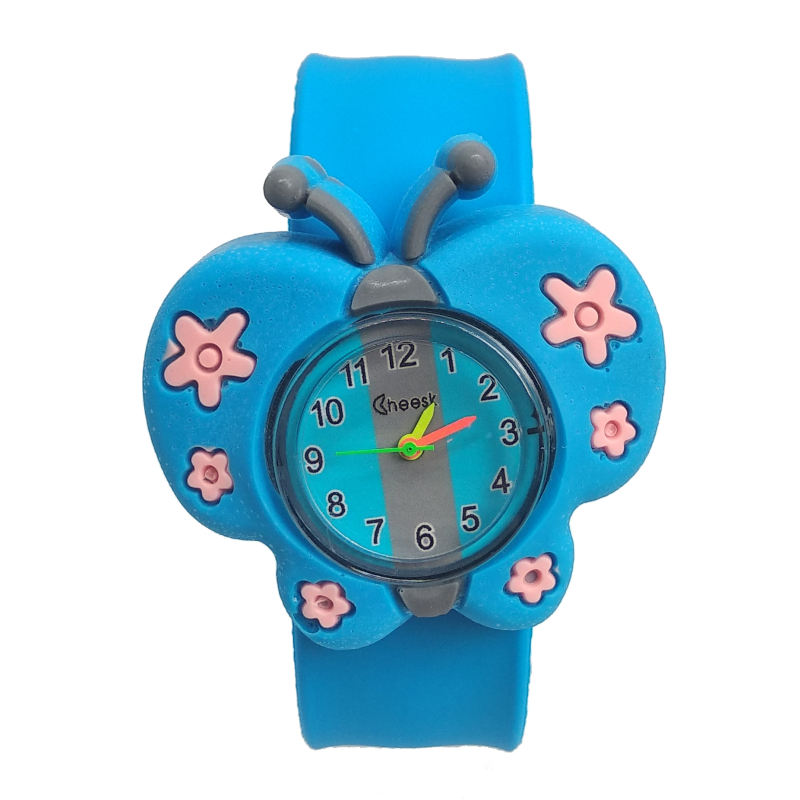 2019 New Hot Selling Girls Butterfly Watch Children Boys Students Clock Silicone Patted Child Watches Kids Baby Christmas Gift
