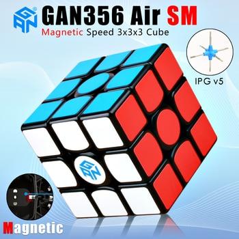 цена на Gan 356 Air SM 3x3x3 Magnetic Magic Speed Cube Professional GANs Magnets Puzzle Cube Gan356 Air SM 3x3 Cube Competition Gift