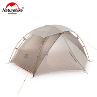 Naturehike Outdoor Camping Ultralight Tent Nebula 20D Nylon Double Layers X Structure Snow proof Top 1 2 Person Tents NH19zp011